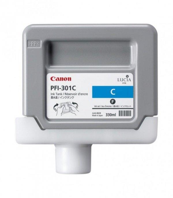 Tusz Canon PFI-301C Cyan 330ml do iPF8000S iPF8100 iPF9000S iPF9100 CF1487B001AA