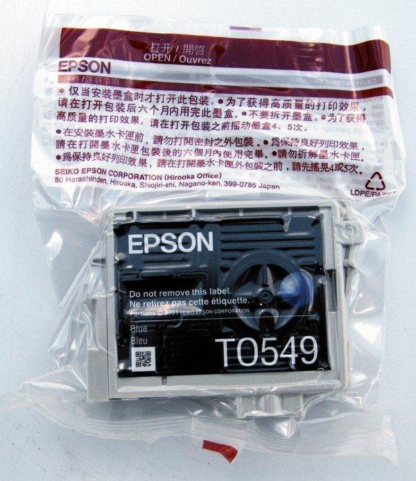 Tusz do Epson Stylus Photo R800/R1800 Blue Ink Cartridge 400 str. T0549
