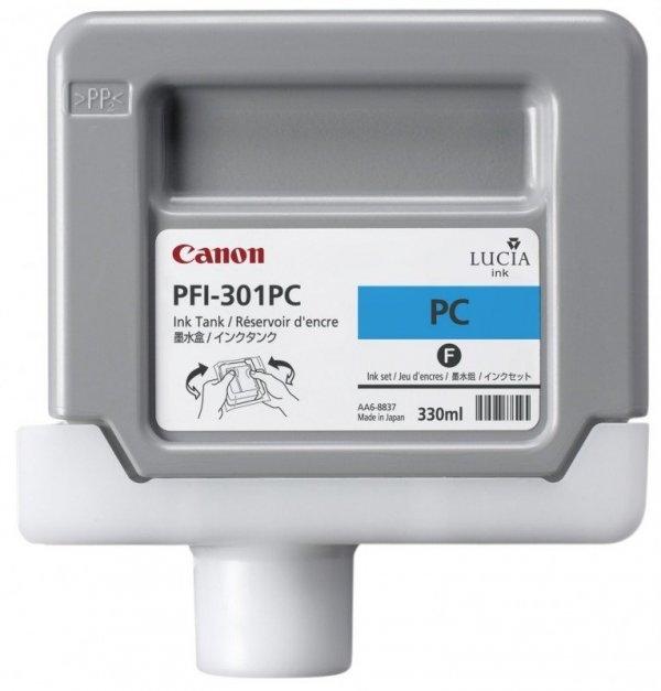 Tusz Canon PFI-301PC Photo Cyan 330ml do iPF8000S iPF8100 iPF9000S iPF9100 CF1490B001AA