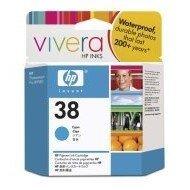 Wkład atramentowy HP No 38 cyan Vivera pigmentowy do Photosmart A516/618/717/436/B8850/B9180| 27ml | C9415A