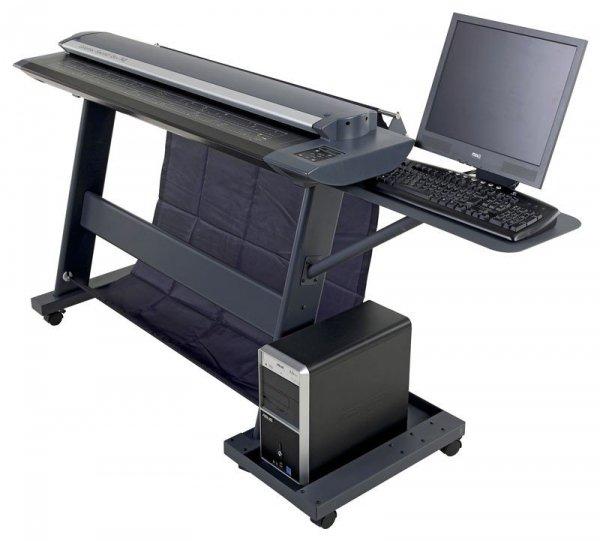 Zestaw półek na komputer i monitor LCD do podstawy standard do skanerów Colortrac