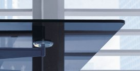 Stół konferencyjny Xeon szkło hartowane grafit