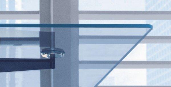 Biurko gabinetowe Xeon szkło hartowane przeźroczyste