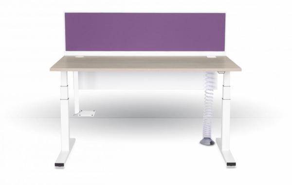 biurko z elektryczną regulacją wysokości eModel panel tapicerowany