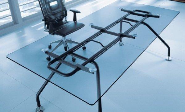 Biurko gabinetowe Xeon szkło hartowane