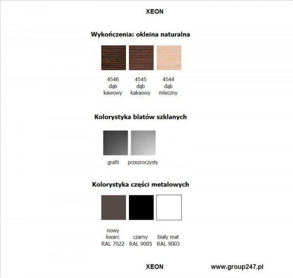 Kolorystyka biurka Xeon