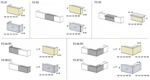 LADA RECEPCYJNA FURONTO BETON F2-06 + F2-07 + F2-09 + F2-10 + 2F2-26
