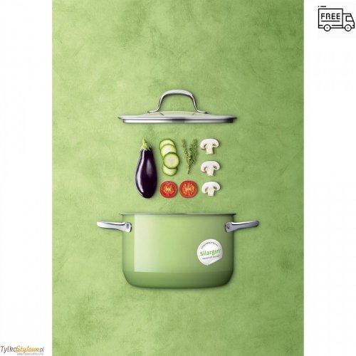 Silit Passion Green - garnek z pokrywką 20 cm-2.4 L