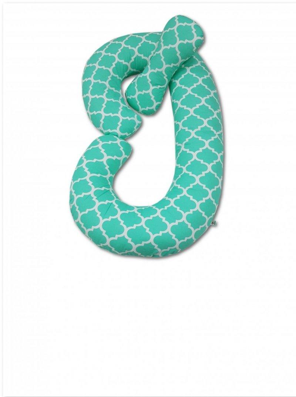 Poduszka ciążowa Typ C Rogal do karmienia i spania - TURKUSOWY