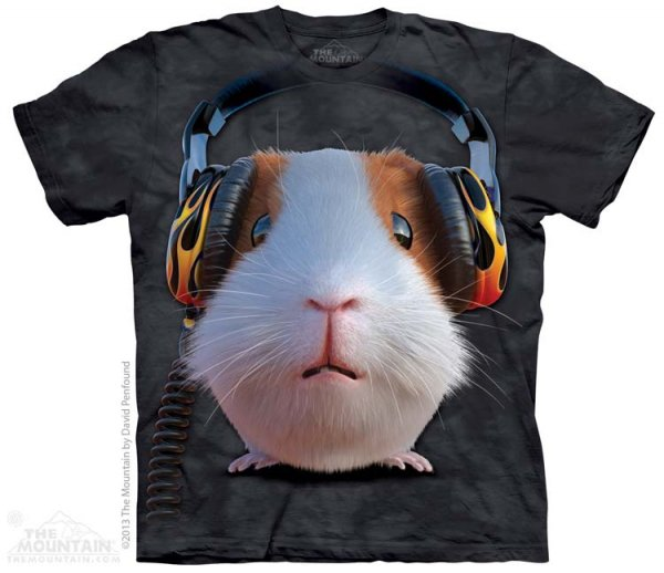 KOSZULKA T-SHIRT THE MOUNTAIN DJ GUINEA PIG 10-3784