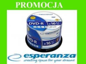 PŁYTY DVD-R x16 4,7GB ESPERANZA 50 SZTUK CAKE