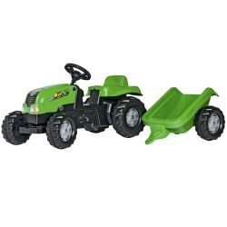 Rolly Toys rollyKid Traktor na pedały zielony z przyczepą