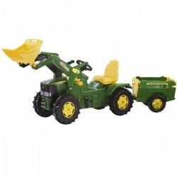 Traktor na pedały rollyFarmTrac John Deere z łyżką i przyczepką 3-8 Lat do 50kg