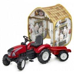 Traktor na pedały Falk Garden Master z przyczepką w zestawie z namiotem