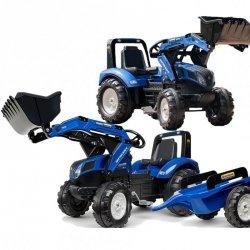 New Holland Traktor na pedały z przyczepą i łyżką FALK