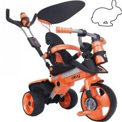 Injusa Rowerek Trójkołowy City Trike regulowany Ciche Koła 3 w 1