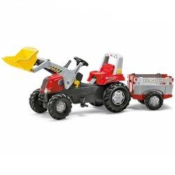 Rolly Toys rollyJunior traktor na pedały czerwony z przyczepą i łyżką