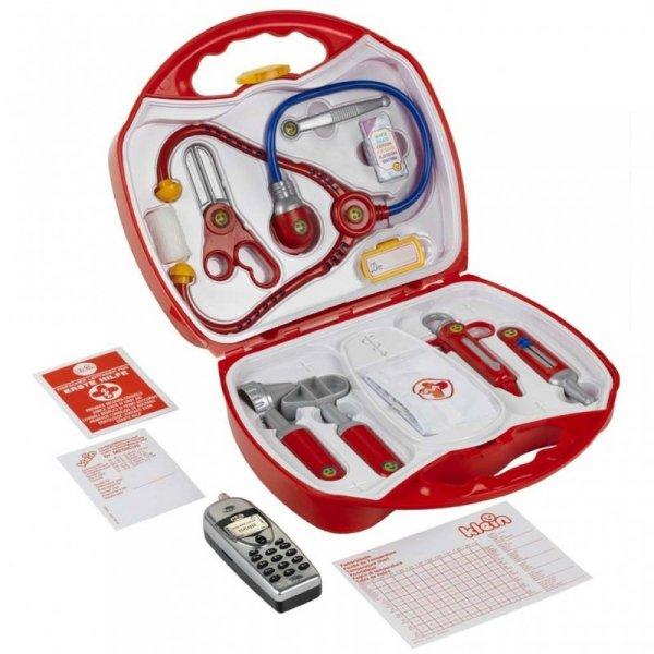 Zestaw lekarza w walizce z akcesoriami i komórką Klein