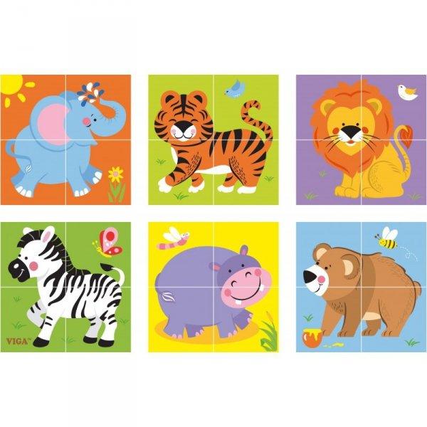 Drewniana układanka Zoo Puzzle Viga Toys 4 klocki
