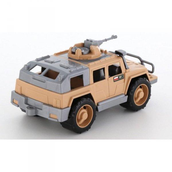 Samochód Jeep Obrońca Safari z obrotowym działem Wader Quality Toys