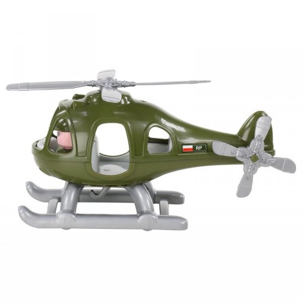 Helikopter Smigłowiec Wojskowy Grzmot Figurka Pilota Polesie