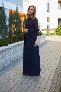 Sukienka ciążowa długa z koronką 4560
