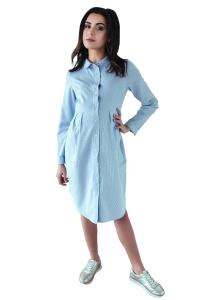 Sukienka ciążowa koszulowa długi rękaw 4089