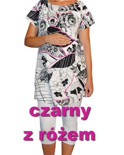 Tunika ciążowa z drukowanej tkaniny  0913