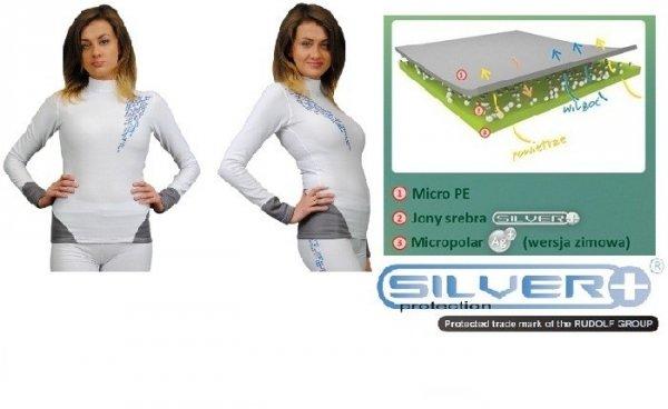 Bielizna termoaktywna antybakteryjna Silverplus Bluza damska 9251
