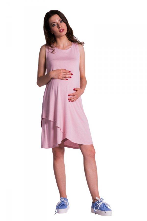 Sukienka ciążowa asymetryczna bez rękawów 4317