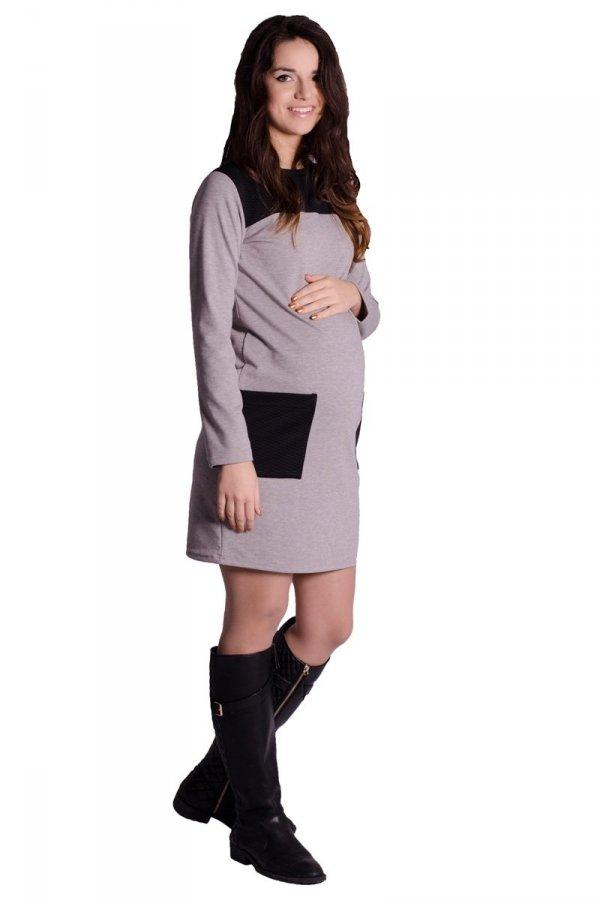 Sukienka ciążowa z pikowanymi wstawkami 1460