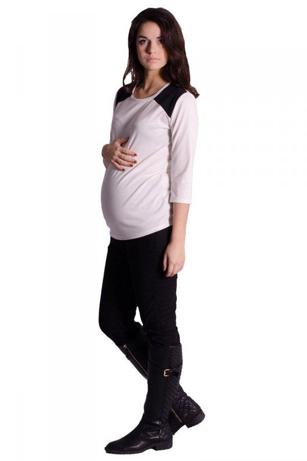 Bluzka ciążowa z pikówką 1637