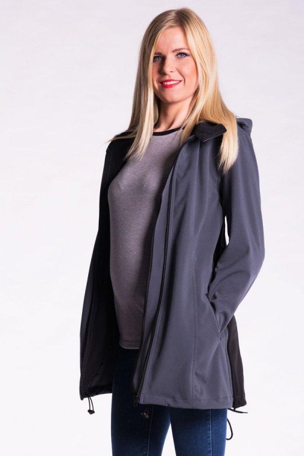 Zimowy płaszcz ciążowy softshell 2382