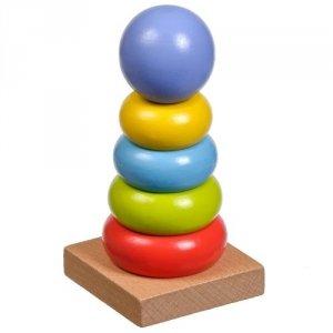 Drewniana układanka dla dziecka - wieża #T1