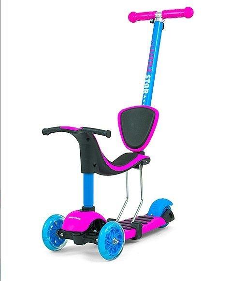 HULAJNOGA ROWEREK Scooter Little Star Pink-Blue #B1