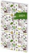 Kalendarz książkowy 2021 A6 tygodniowy oprawa PCV koty