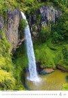 Kalendarz ścienny wieloplanszowy Waterfalls 2021 - kwiecień 2021