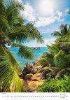 Kalendarz ścienny wieloplanszowy Tropical Beaches 2021 - grudzień 2021