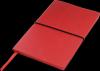 Notes A5 zamykany na gumkę - w oprawie VIVELLA czerwona