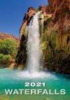 Kalendarz ścienny wieloplanszowy Waterfalls 2021 - okładka