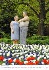 Kalendarz ścienny wieloplanszowy Modern Statues 2021 - kwiecień 2021