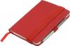 Notes A6 z długopisem zamykany na gumkę - papier chamois w linie oprawa EKOSKÓRA LINEN szara (gumka szara)