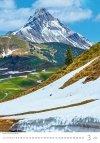 Kalendarz ścienny wieloplanszowy Mountains 2021 - marzec 2021