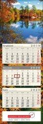 Nadruk reklamowy na kalendarzu trójdzielnym - Twoje logo i dane firmy