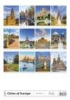 Kalendarz ścienny wieloplanszowy Cities Of Europe 2021 - tylna okładka
