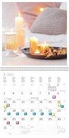 Kalendarz ścienny wieloplanszowy Hygge 2022 z naklejkami - styczeń 2022
