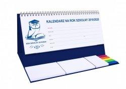 Kalendarz biurkowy EXCLUSIVE PLUS na rok szkolny 2019/2020 granatowy