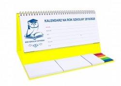 Kalendarz biurkowy EXCLUSIVE PLUS na rok szkolny 2019/2020 żółty