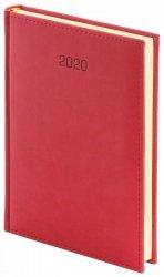 Kalendarz książkowy 2020 A4 tygodniowy papier biały drukowane registry oprawa VIVELLA EXCLUSIVE - czerwona