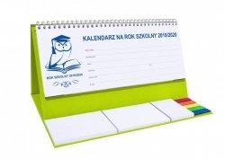 Kalendarz biurkowy EXCLUSIVE PLUS na rok szkolny 2019/2020 seledynowy